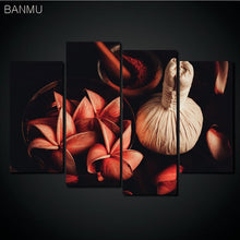Canvas painting print Flower White Lotus In Black