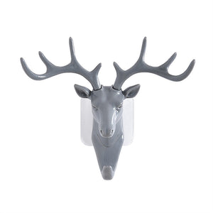 Deer Head Antlers Wall Hook