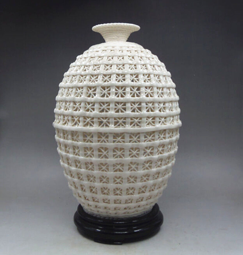Carved Hollowed Basket Big Vase