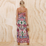 Floral Print Off Shoulder Strapless Backless Dress - Emporium Galore
