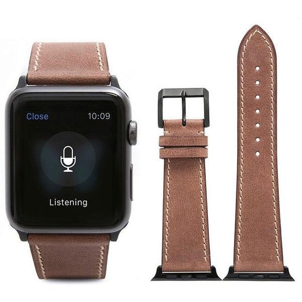 Rosy Brown French Calf Leather Apple Watch Band