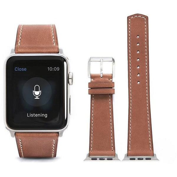 Cocoa French Calf Leather Apple Watch Band