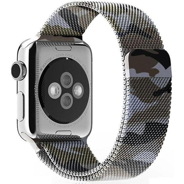 Camouflage Milanese Loop Apple Watch Band