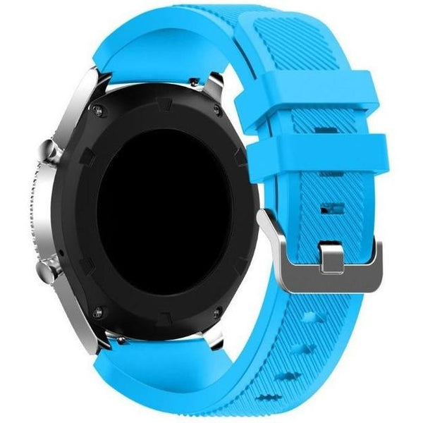 Light Blue Silicone Samsung Gear S3 Band