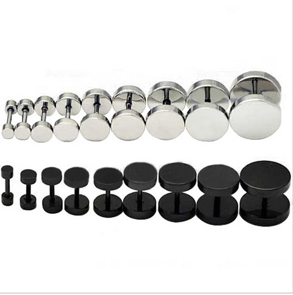 Men's Round Steel Stud
