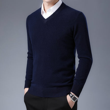 Men's Printed Turtleneck Sweater