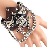 Men's Steam Punk Pirate Chained Wristband