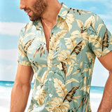 Men's Beach Style Short Sleeve Hawaiian Shirt