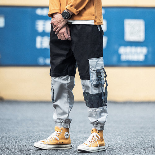 Men's Hip Hop Style Cargo w/ Patchwork