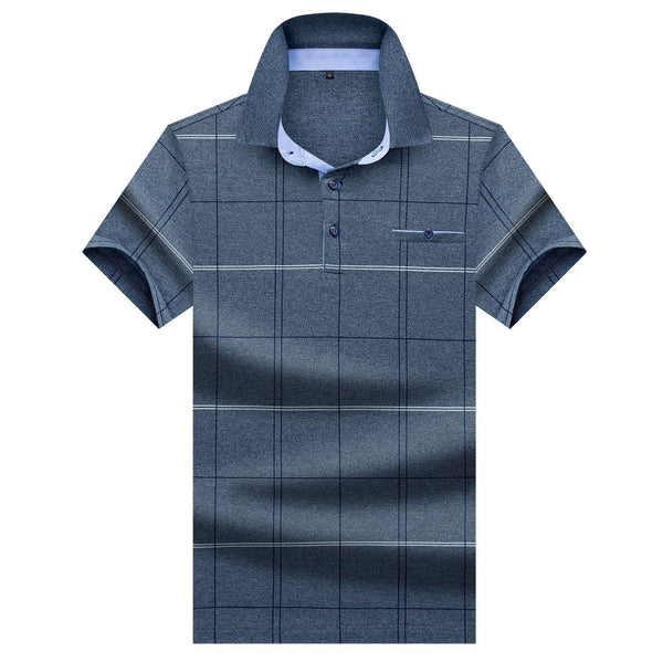 Men's Checkered Print Polo