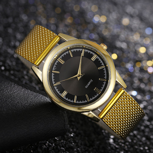 Men's Mesh Strap Quartz Watch