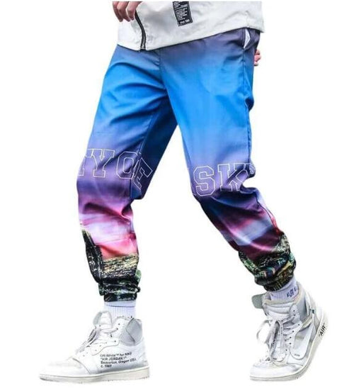 Men's Graphic Print NYC Style Joggers