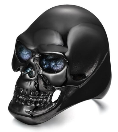 Men's Punk Style Hollowed Out Skull Ring