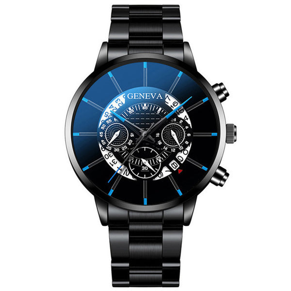 Men's Luxurious Tri-Face Watch w/ Linked Band