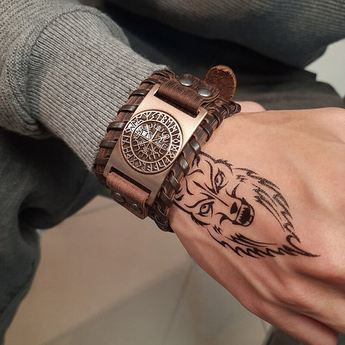Men's Alloy Plated Greek Style Wristband
