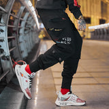 Men's Urban Style Joggers w/ Red Designer Finish