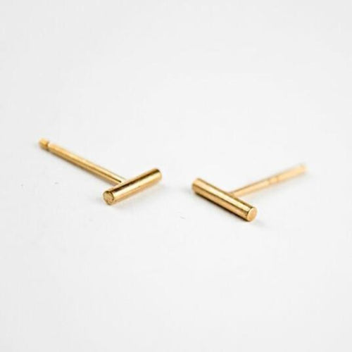 Men's Solid Bar Stud Earring