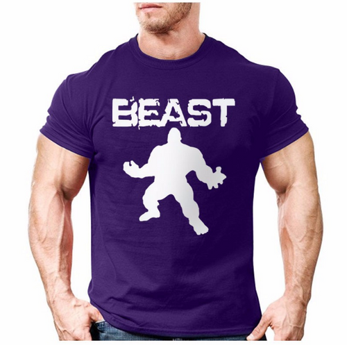 Men's Gym Style Short Sleeve 'Beast' Tee