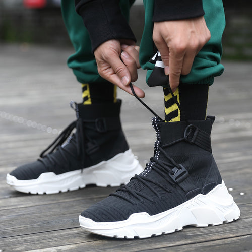 Men's Hip Hop Style High Top Boots