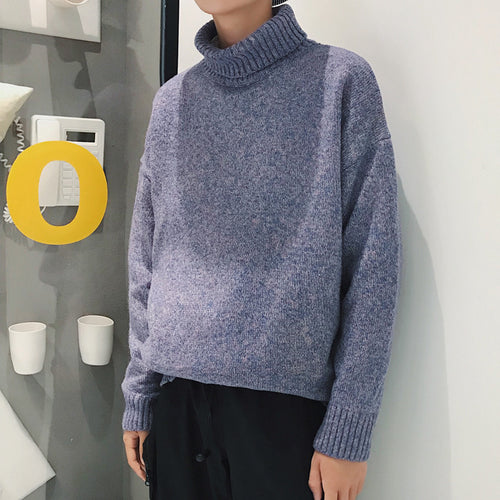 Men's Rolled Turtleneck Sweater