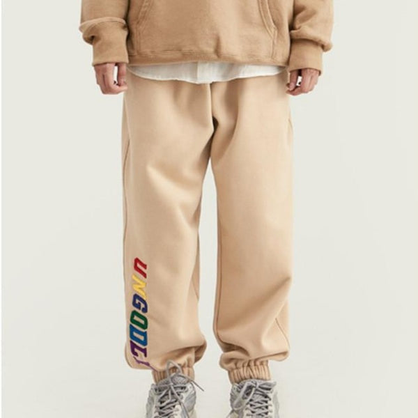 Men's Embroidered 'UNGODLY' Designer Joggers