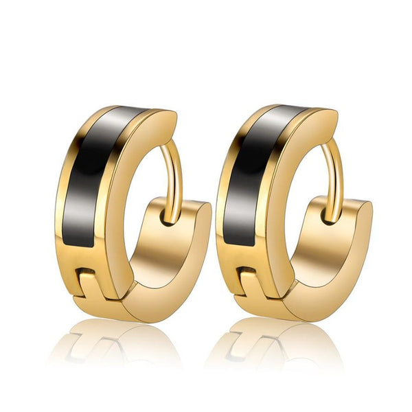 Men's Vacuum Plated Titanium Buckle Earring
