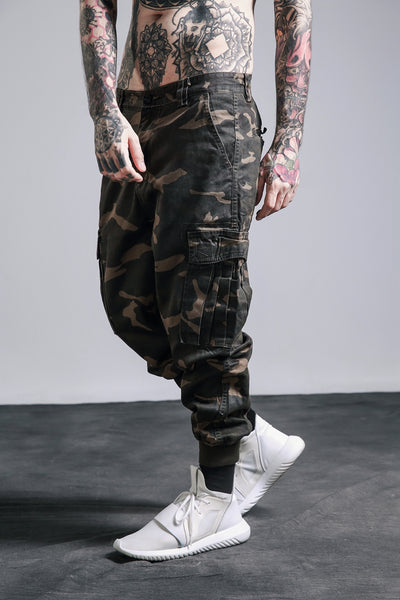 Men's Camouflage Blend Cargo Pants