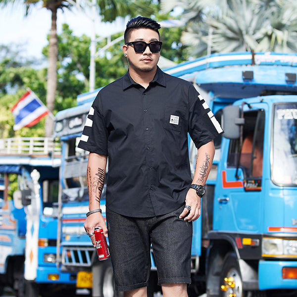 Men's Street Style Short Sleeve Oversized Shirt