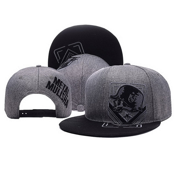 Men's Gray & Black Skull Cap