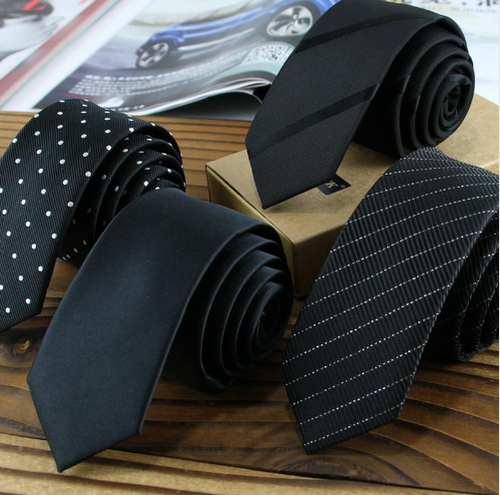 Men's Narrow Satin Ties