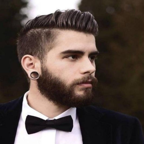Men's Assorted Stretched Black Earlobe Expander Earrings