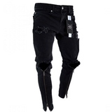 Men's Canard Zippered Black Jeans