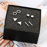 Men's 4 Piece Assorted Geometric Ear Piercings
