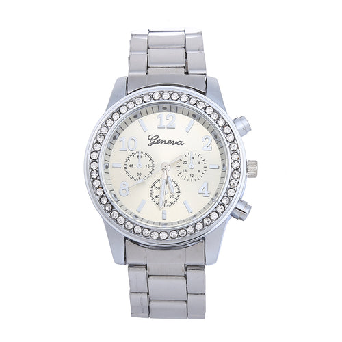 Men's Tri-Face Diamond Rim Quartz Watch