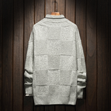 Men's Checkered Designer Sweater
