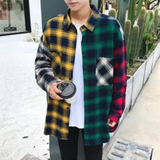 Men's Long Sleeve Multi-Colored Checkered Shirt