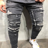 Men's Distressed Ripped & Hooked Jeans