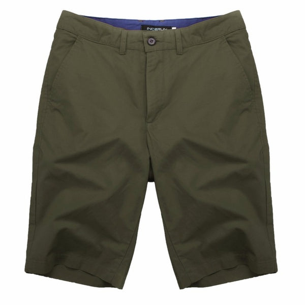 Men's Solid Button Up Shorts