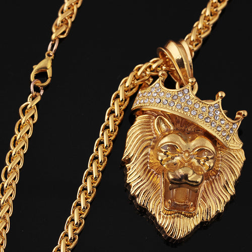 Men's Gold & Platinum Plated Cabeza de León Chain