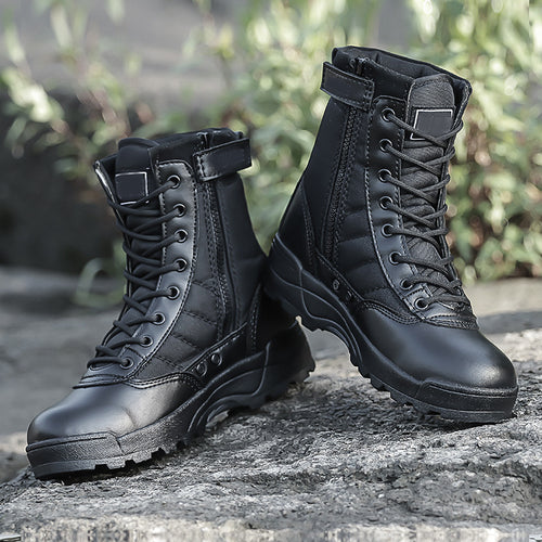 Men's High Top Leathered Combat Boots