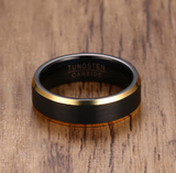 Men's Matte Lined Ring