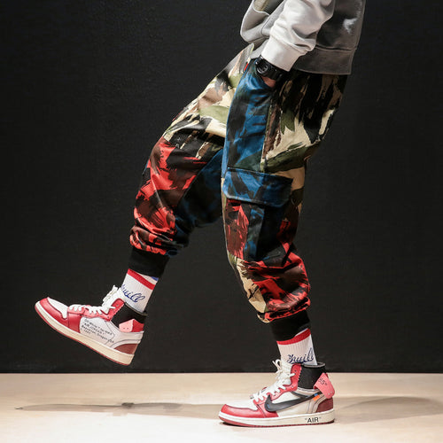 Men's Retro Style Multi-Color Cargo Pants