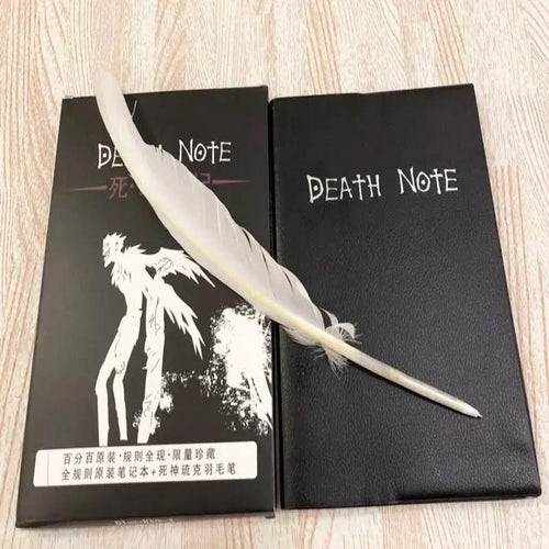 DEATH NOTE Journal & Planner w/ Feathered Pen