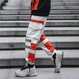 Men's Urban Style Dual Colored Harness Cargo Pants