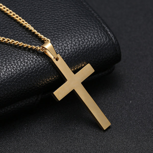 Men's Simple Cross Pendant Chain