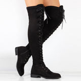 Women's Criss-Cross Over the Knee Platform Boots - Erbana 88