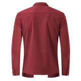 Men's Long Sleeve Formal Shirt w/ Outer Piece and Turn Down Collar - Erbana 88