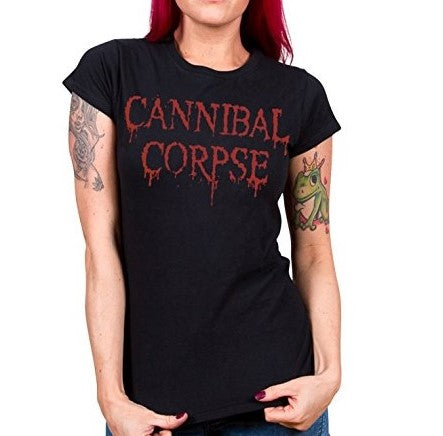 Women's Short Sleeve Metalhead Fitted 'Cannibal Corpse' Band Tee