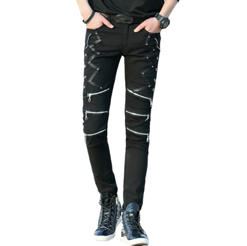 Men's Gothic Style Slim Fit Jeans