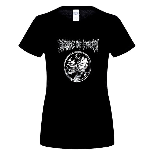 Women's Short Sleeve 'Cradle of Filth' Symphonic Gothic Metal Band Tee - Erbana 88
